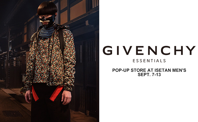 <GIVENCHY ESSENTIALS>POP-UP STORE AT ISETAN MEN'S