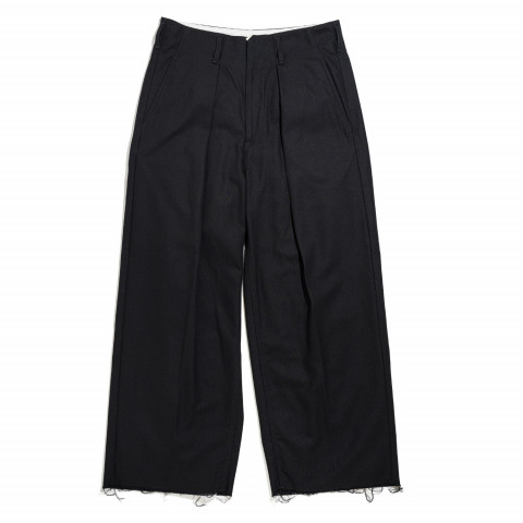 〈サバイ〉TUCK BAGGY「HARD TWISTED YARN CLOTH」 26,400円 *受注販売